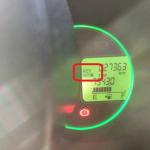電池交換警告灯