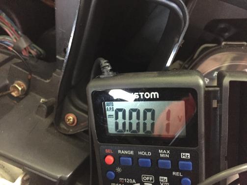 キーOFF時電圧